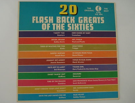 K-tel 20 Flash Back Greats Of The Sixites